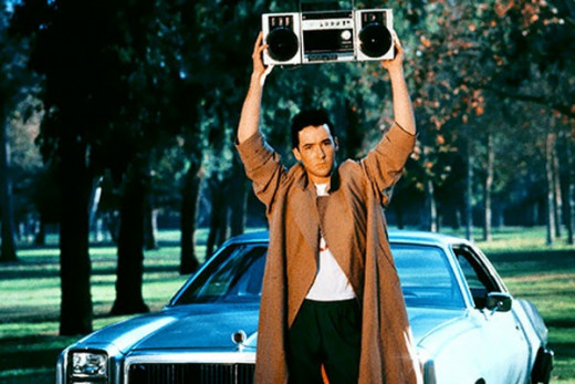 In Say Anything John Cusack played a man who stood in front of the woman he liked and played a love song to try to win her heart