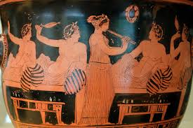 Greek Courtesan Playing The Flute