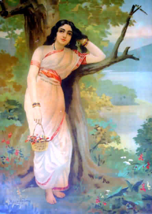 Ahalya, Painting By Raja Ravi Varma