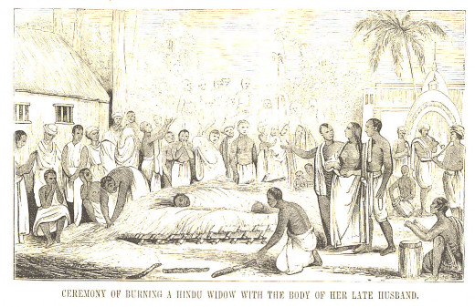 Burning Of A Widow On The Funeral Pyre Of Her Late Husband