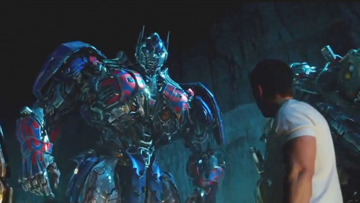 Optimus Prime leads the Autobots in the movie Transformers: Age of Extinction