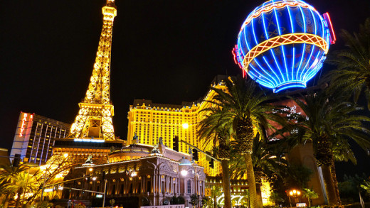 Hotels at Night in Las Vegas