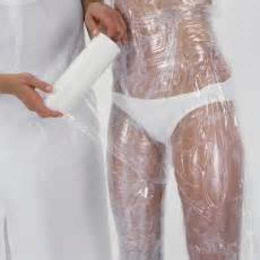 Wrapping the body in saran wrap! Fun Times!