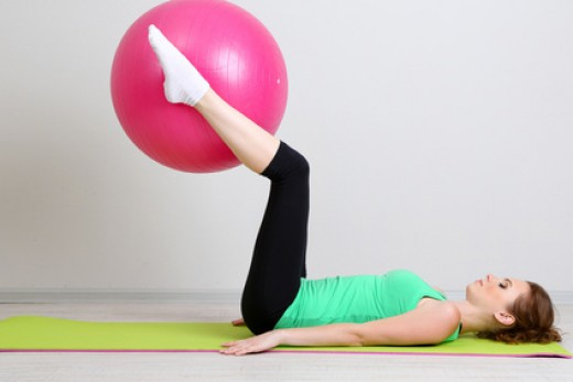 Leg Raises on Stability Ball