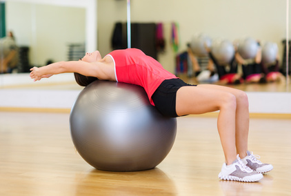 Thoracic Extensions on Stability Ball
