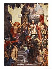 Bunyan's 'Pilgrim's Progress' Is An Allegory. Painting By Byam Shaw