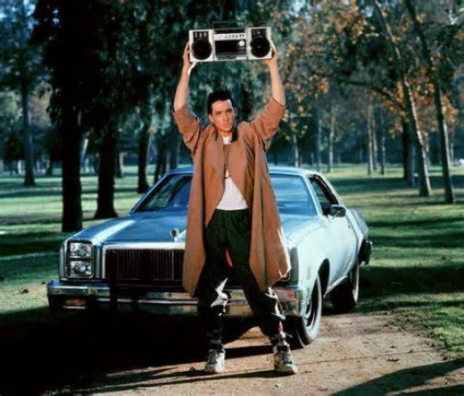 "John Cusack in ""Say Anything"""