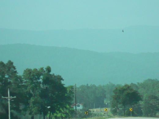 The Ouachita Mountains North of Mena, Arkansas