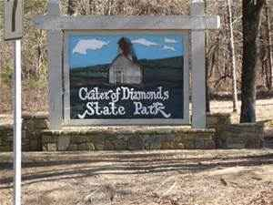 Entrance to Crater of Diamonds State Park