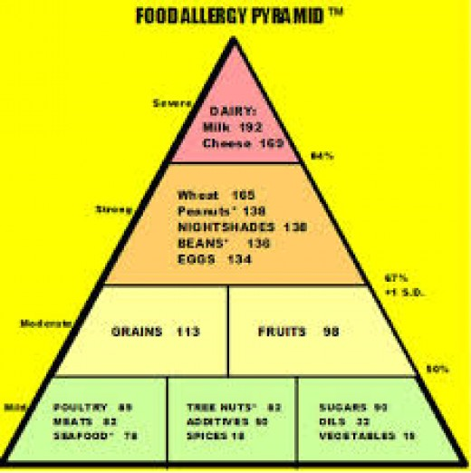 food allergy pyramid