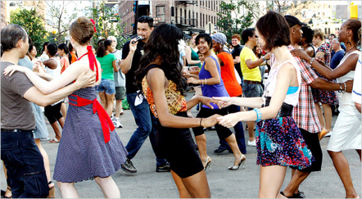 Dancing outside in the summertime with your family and friends is a great way to get out and have a fun summer evening!