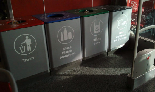 Recycling bins now including an extra for electronics
