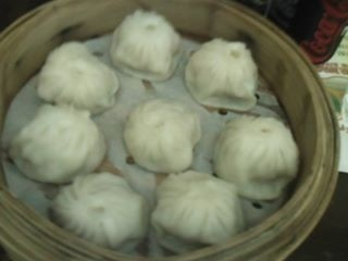 This is the famous Xiao Long pao, my cousin was too eager to teach as how to eat it properly.