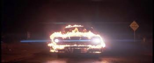 Stephen King wrote the book and John Carpenter put Christine to film. Christine is a killer car with a mind of its own.