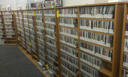 The library has a huge selection of various musical genres.