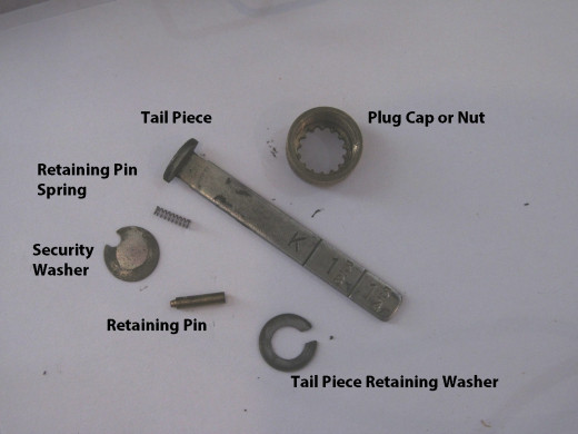 Arrow E61 Deadbolt tail piece assembly.