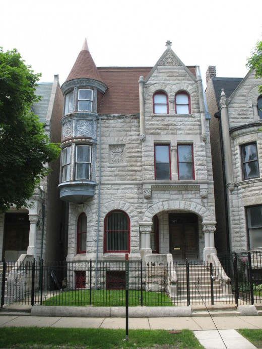 Ida B. Wells - Barnett House.. Address: 3624 S. Martin Luther King Jr. Dr. Bronzeville, Chicago. Year Built: 1889. Architect: Joseph A. Thain. Designated a Chicago Landmark.Courtesy of This Old House