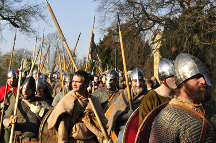 'Heathens - what, us? This could be the 'micel here',  the Great Army written of in the Chronicles by churchmen who saw them as unwanted, un-Christian invaders