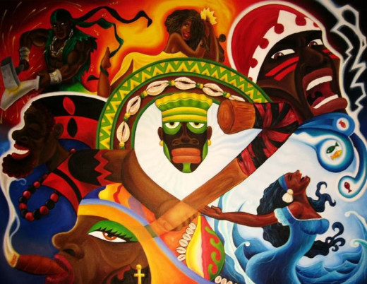 The seven main Yoruba Orishas