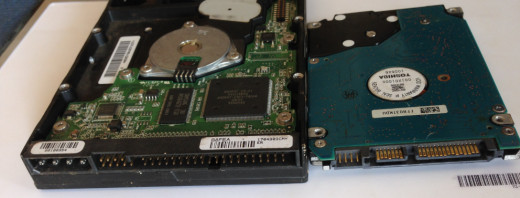 Above is the IDE and SATA hard disks  for desktop and  for laptop computers