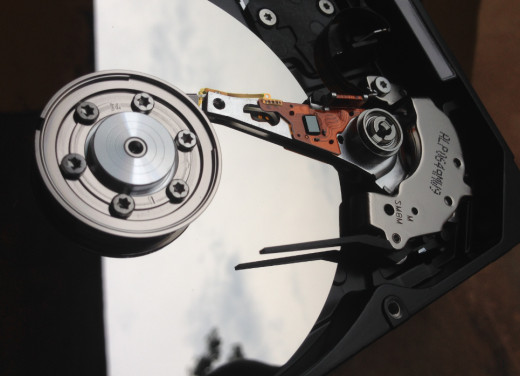 Inside the mechanical hard disk drive