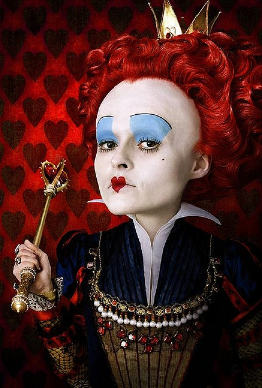 Actress Helena Bonham Carter Isn't Guilty Of Being Part Of The Rat Race -  Here As The Red Queen