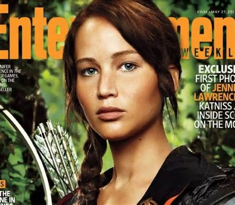 Lawrence as Katniss Everdeen
