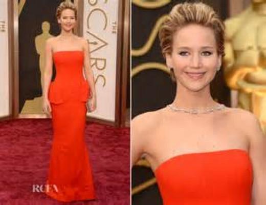 Lawrence at Oscars 2014