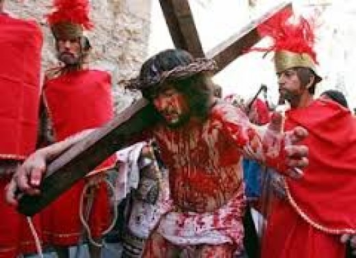He shed His Blood For us.