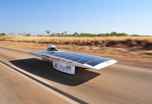 Solar car: Tokai Challenger. It won the 2009 World Solar Challenge.