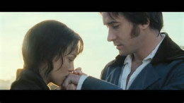 "Elizabeth and Mr. Darcy in ""Pride and Prejudice"""