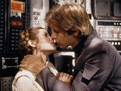 "Princess Leia and Han Solo in ""Star Wars Trilogy"""