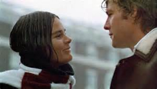 "Jenny and Oliver in ""Love Story"""