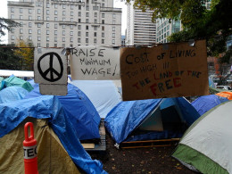 Occupy Vancouver tents