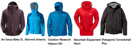 The Best Five Hiking Rain Jackets in 2014