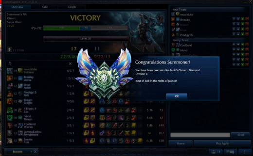 A picture of myself getting promoted to diamond!