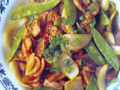 Spicy Chicken Fillets With Snow Peas