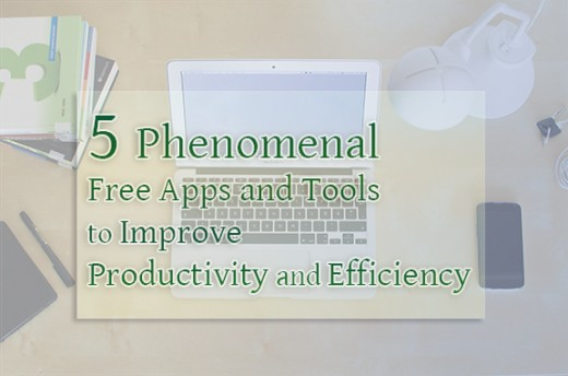 Reviews of 5 great free productivity tools and apps to make work and home life more efficient and less stressful.