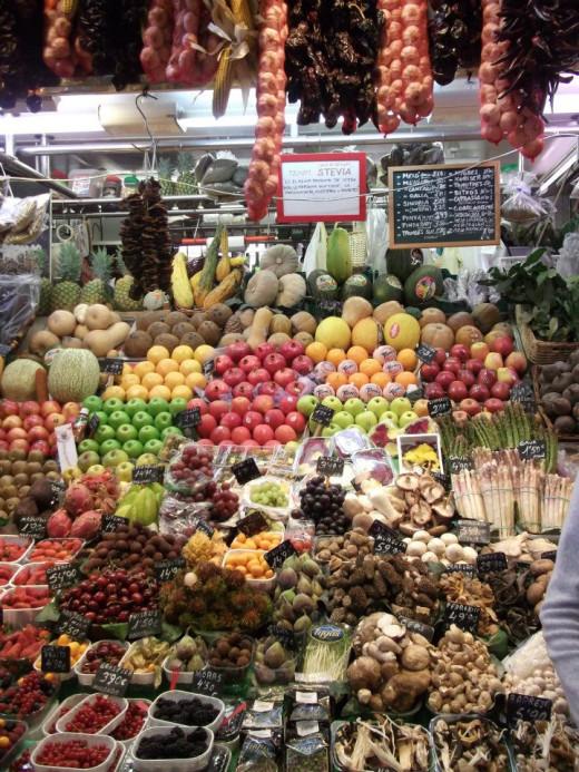 Fruit market in Barcelona