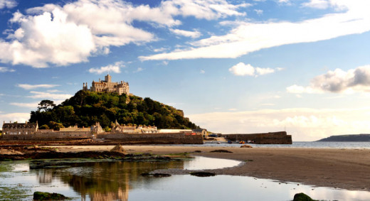 Cormoran led a fairly nomadic life due to his 'supergroupie' mother. But has fond memories of his native Cornwall. This is St Michael's Mount alleged mythical home of the Cornish giant, Cormoran.