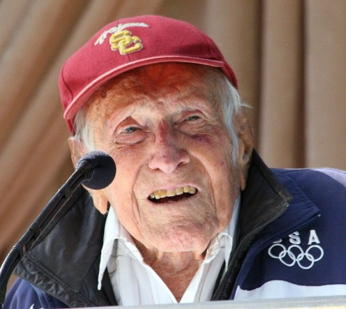 Louis Zamperini at announcement of 2015 Tournament of Roses Grand Marshal.