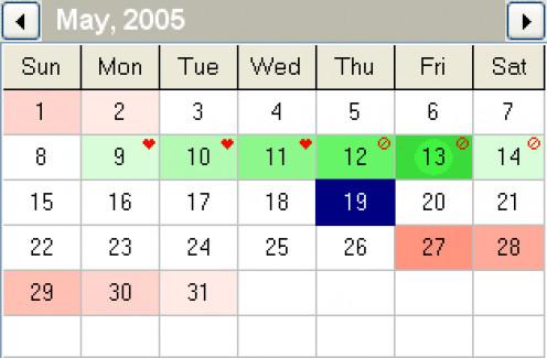Make an effective fertility calendar
