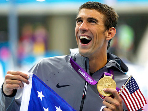 Michael Phelps wins gold.