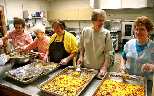 Feeding the homeless helps the community and brings seniors together to utilize their skills and also provides a social circle for them.