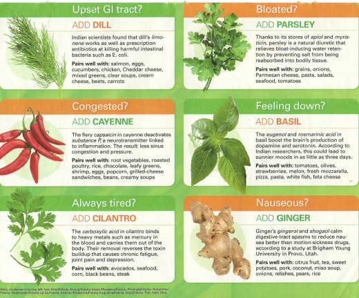 several herbs are listed as healing, this is just a few