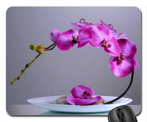 Flower of July - Larkspur Mouse Pad, Mousepad (Flowers Mouse Pad)