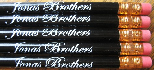Jonas Brothers Pencil Favors