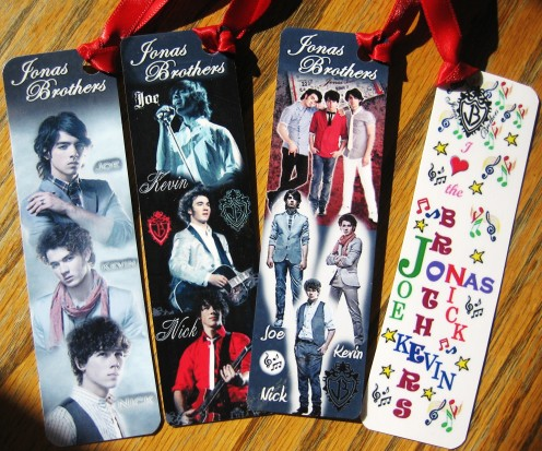 Jonas Brothers Bookmark Party Favors