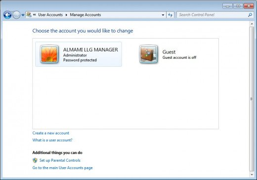 Administrator account is disabled and hidden. It is not shown in User Accounts in Control Panel