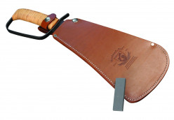 Pro Tool Industries 284 Woodman's Pal Military Premium Fixed Blade Knife with Treated Leather Sheath and Stone